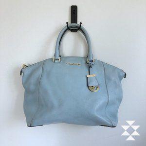 Michael Kors Light Blue Satchel Shoulder Bag